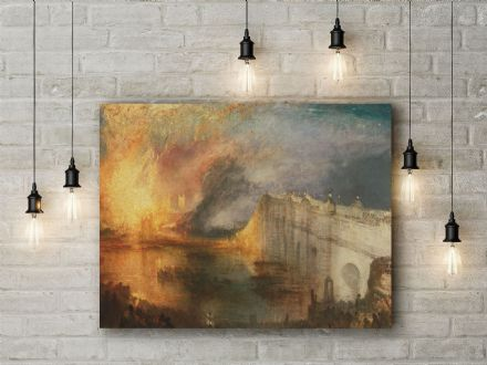 J.M.W Turner: The Burning of the Houses of Lords and Commons, October 16, 1834. Fine Art Canvas.